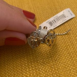 NWT TWO two tones Coach New York Heart Lock Rings